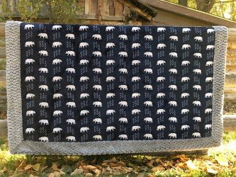 Bear Tracks Miter Edge Blanket
