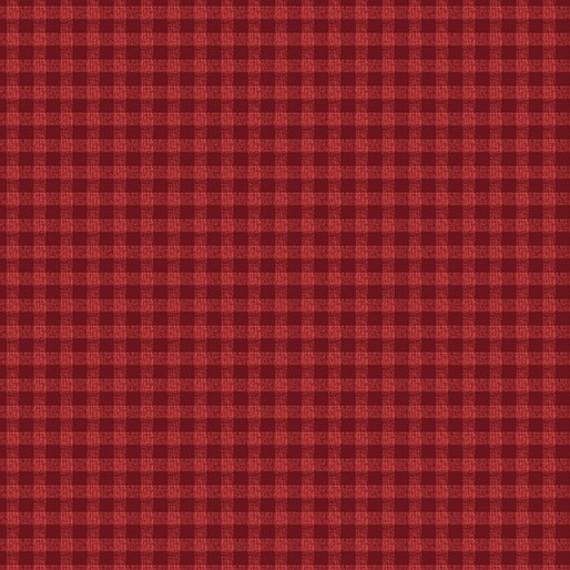 A Moose for Christmas Gingham Red
