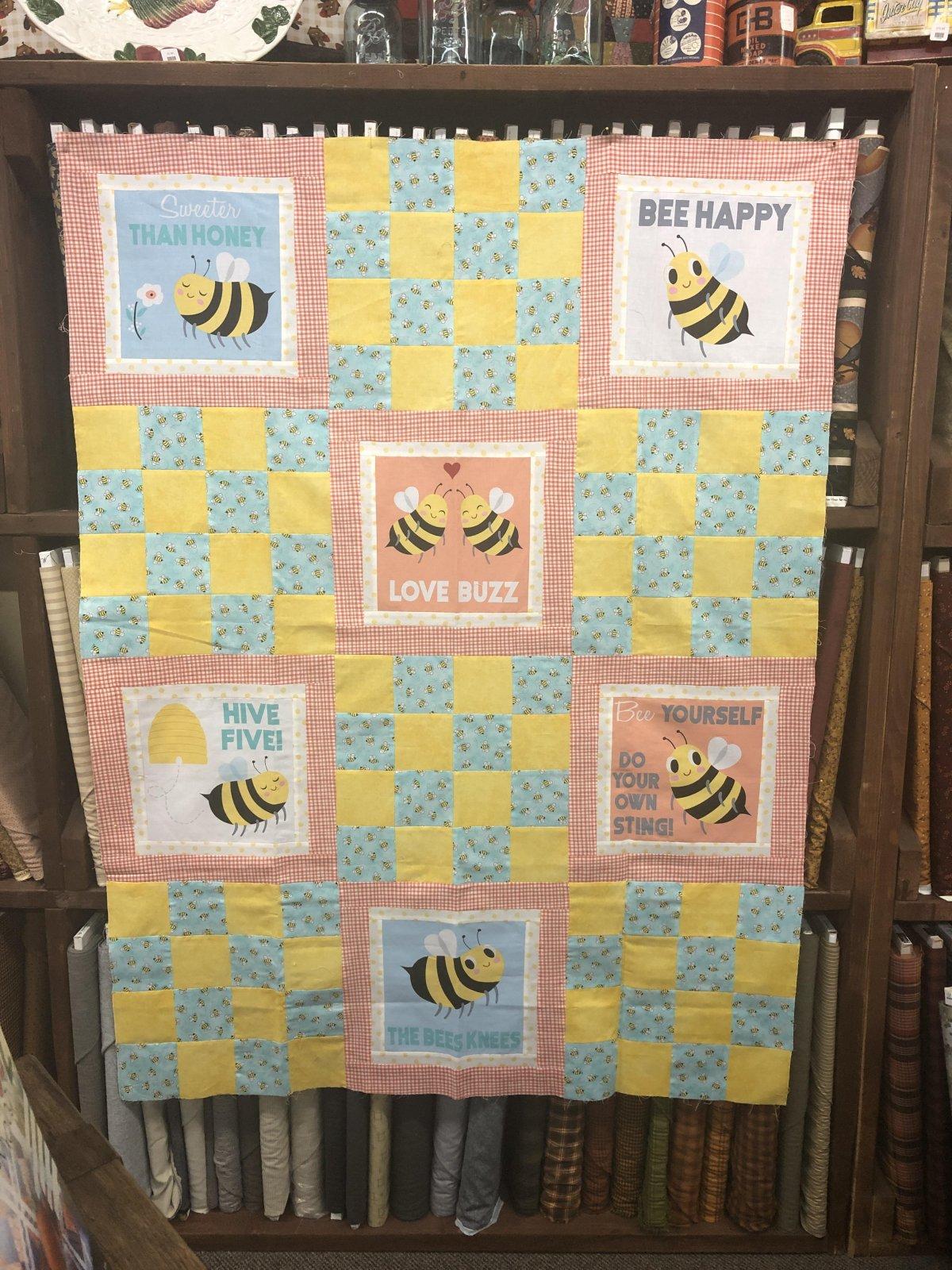 Sadie's Honey Bee Quilt 48 x 64