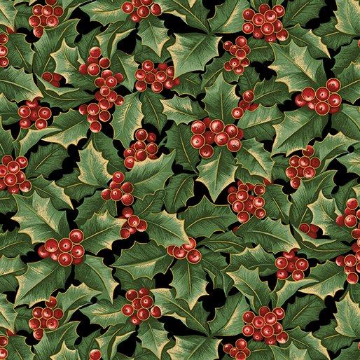 A Festive Season Holly Allover BLK