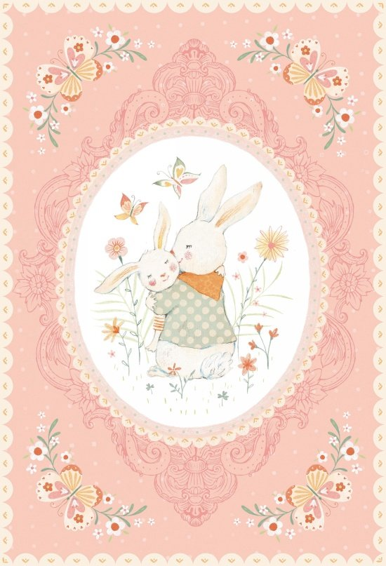 Bunny Tales Panel Flannel 24 x 44