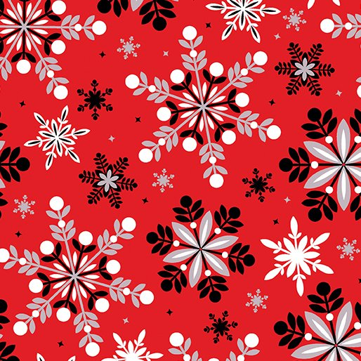 Winter Story Packed Snowflake Red