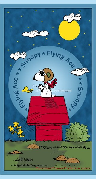 Snoopy Flying Ace Panel 24 x WOF