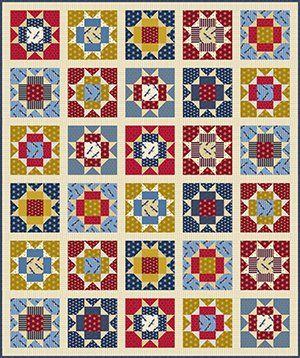 American Glory Quilt Kit 72 x 86