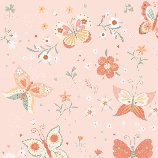 Bunny Tales Flannel Butterflies A/O