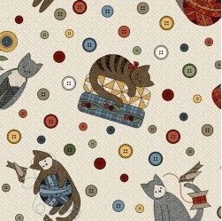 Sew Purrfect Flannel Kitty A/O
