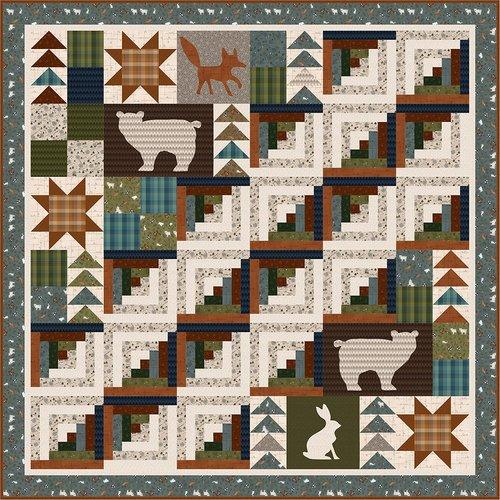 Folk Art Flannel 3 Kit 81 x 81