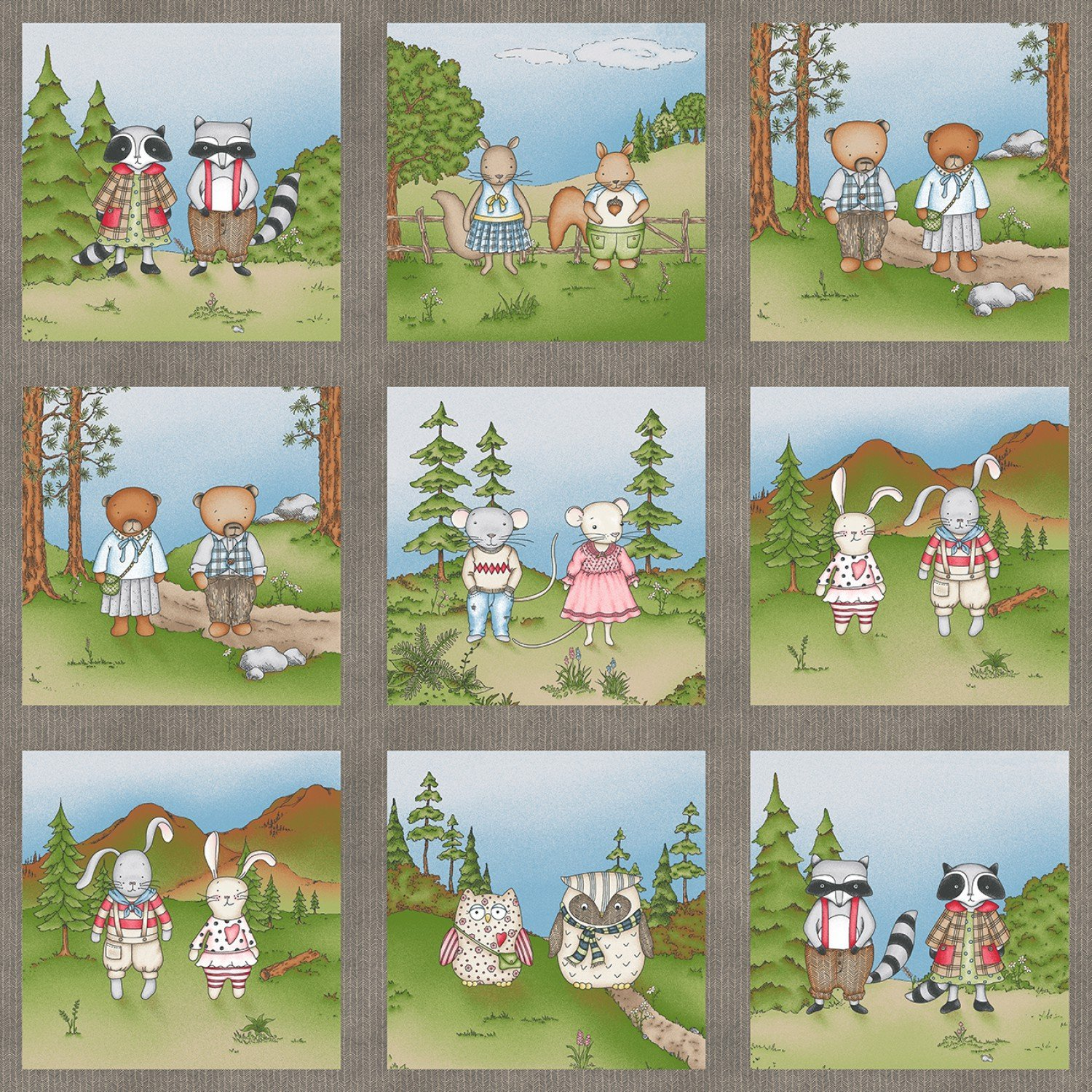 Forest Friends Panel 24 x 42