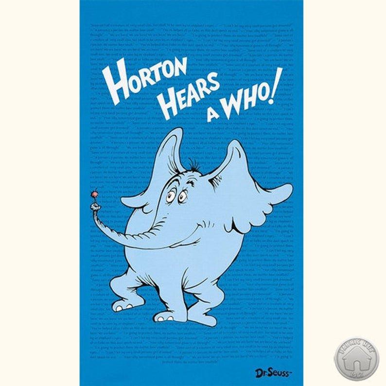 Horton Hears a Who Panel 23.5 x 44