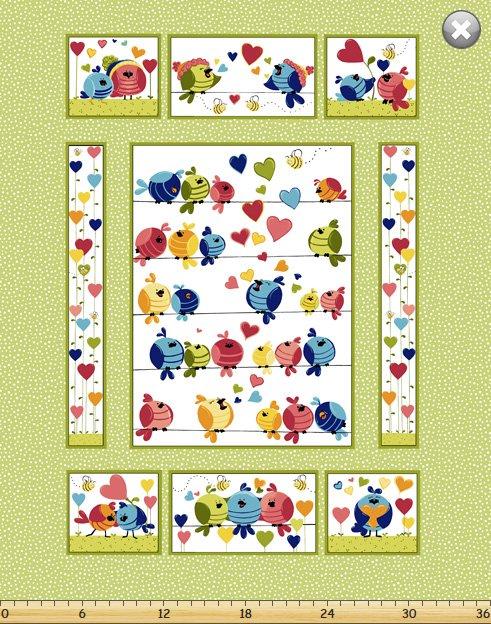 Evie Quilt Panel 36 x 44