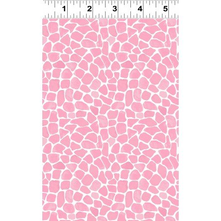 Baby Safari Flannel Giraffe Spots Dk Pink