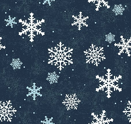 QMN 2021 Snow Flakes Navy Blue
