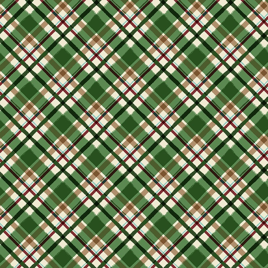 QMN 2021 Diag Plaid Grn