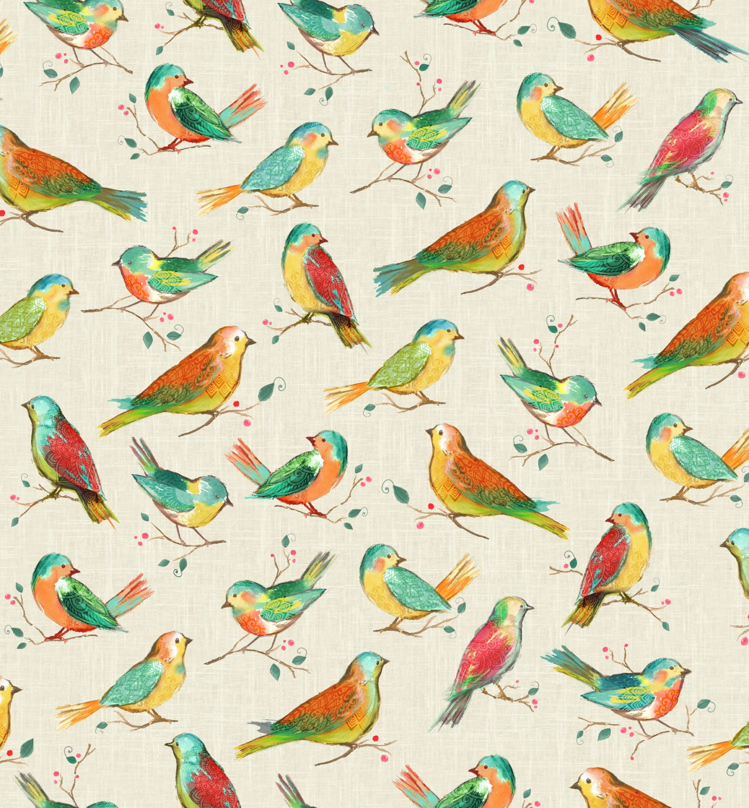 All a Twitter Digitally Printed Birds: Spring