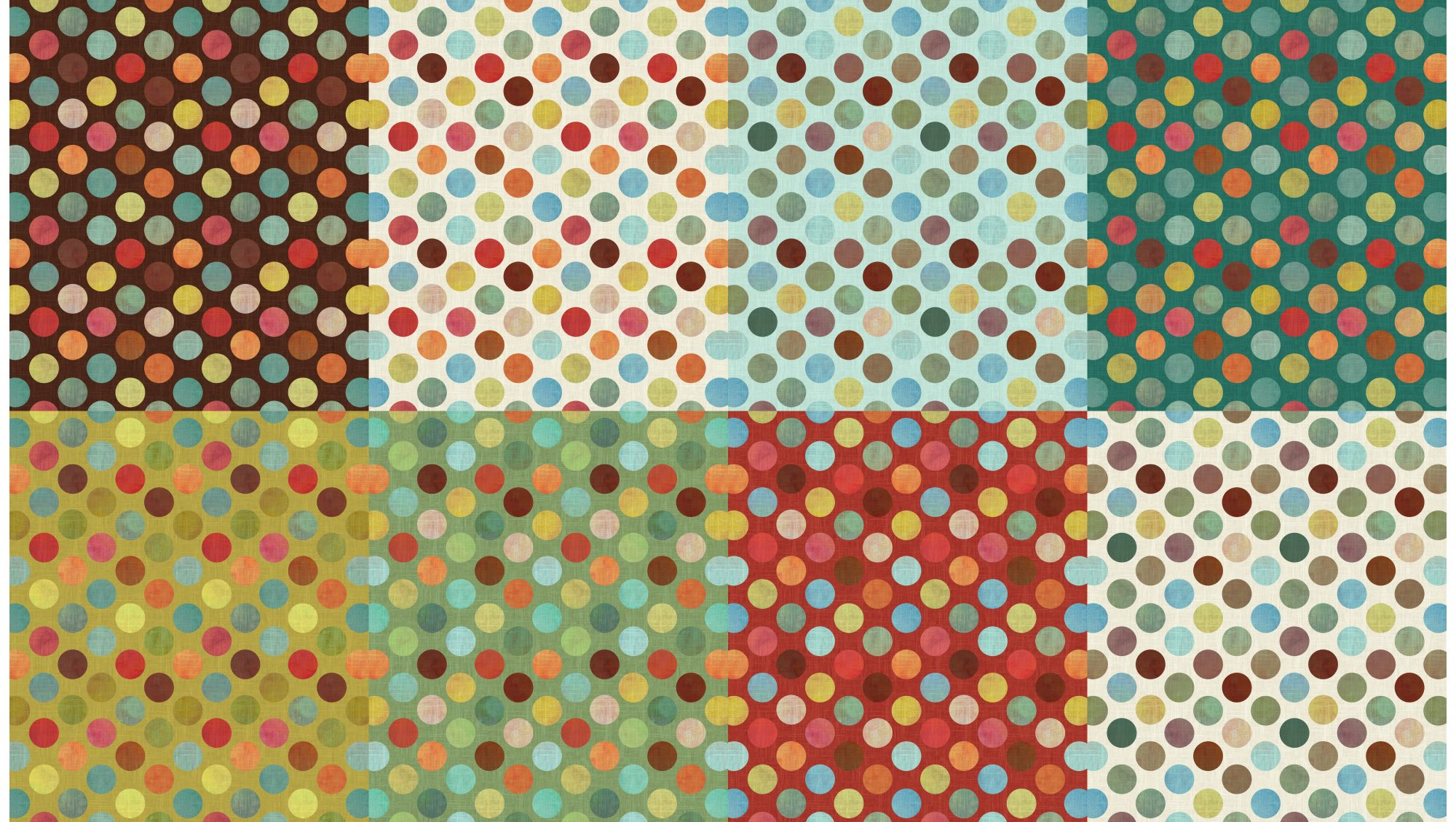 All a Twitter Fat Quarter Panels: Spring Dots