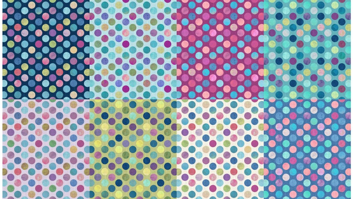 All a Twitter (Second Colorway) Fat Quarter Panels: Sweatpea Dots