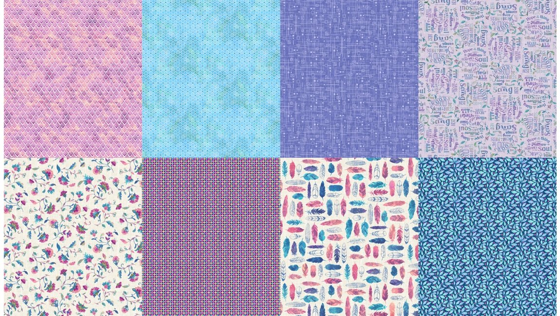 All a Twitter Fat Quarter Panels (Second Colorway): Wildberry