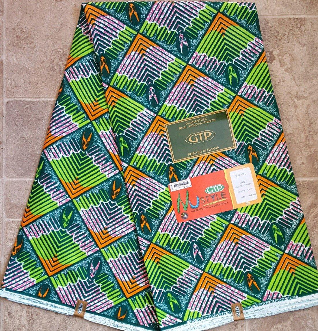 GTP Nustyle diamond geometric pattern printed fabric #732