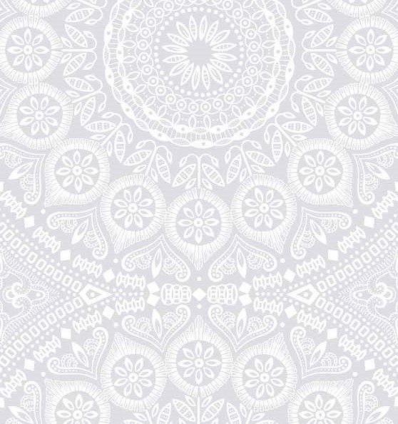 White on White Medallion Shweshwe (1185)