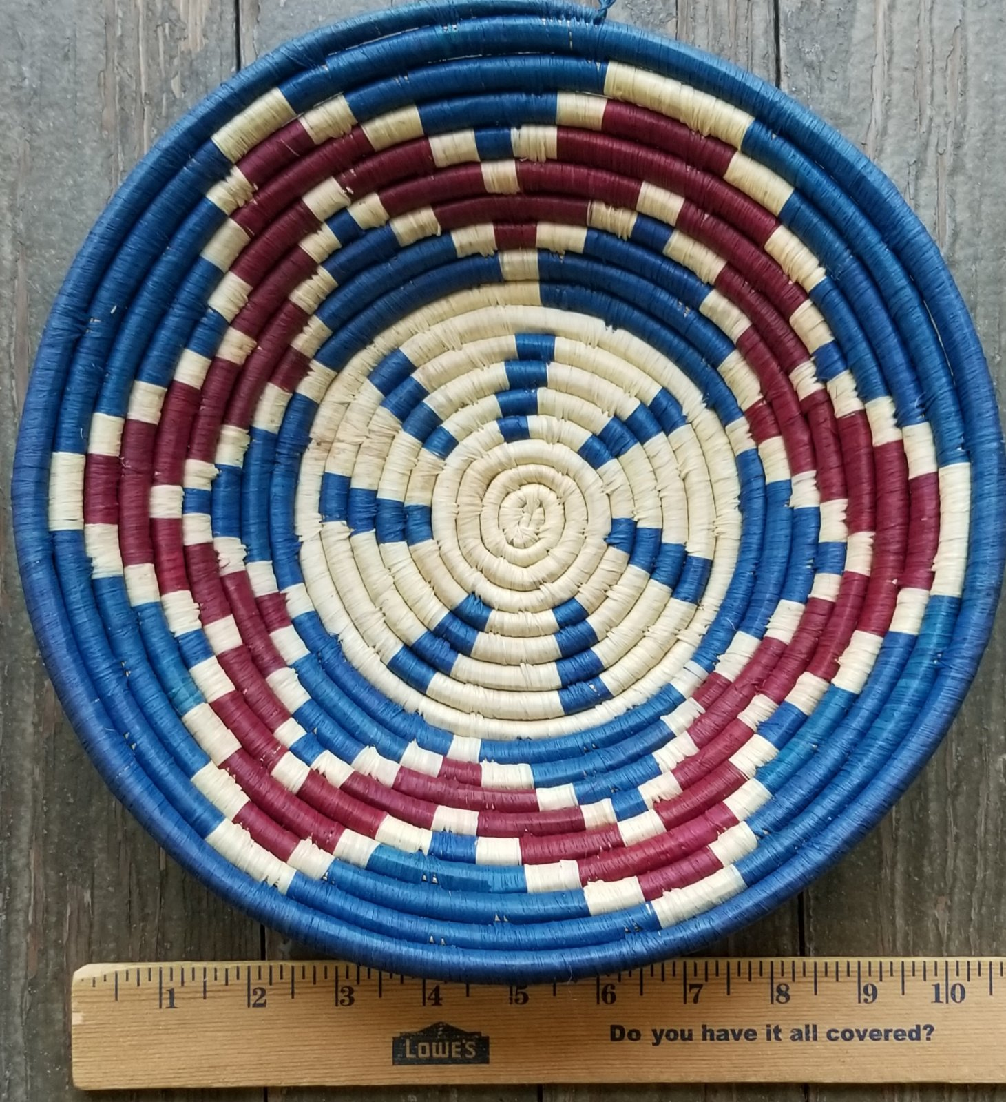 10 Uganda Basket with Red and Blue #013