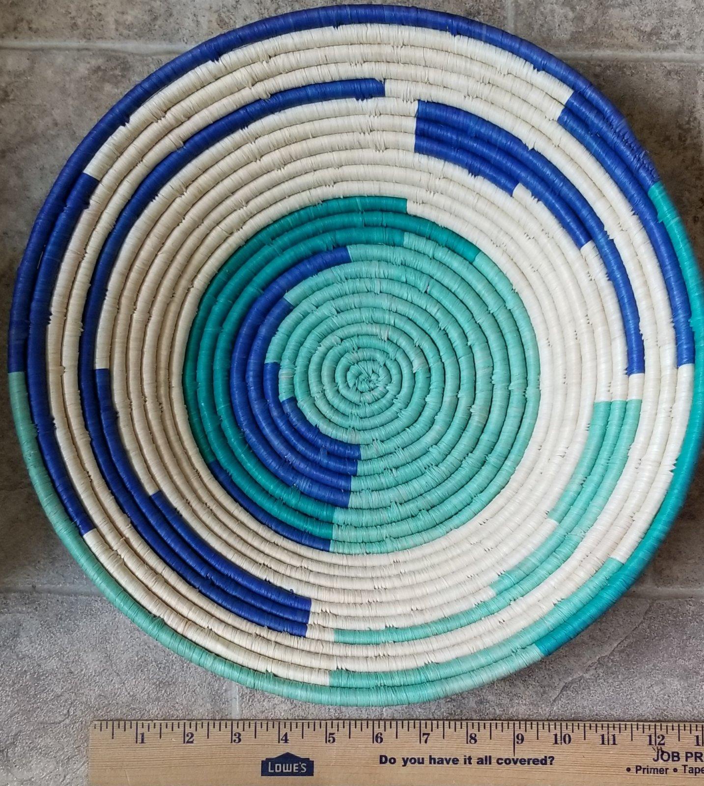 Uganda Basket Multi-Blue Large #016