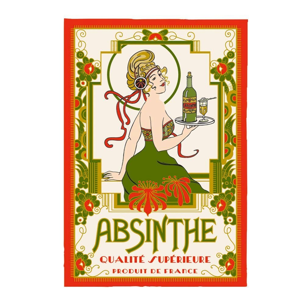 Torchons & Bouchons French Absinthe tea towel