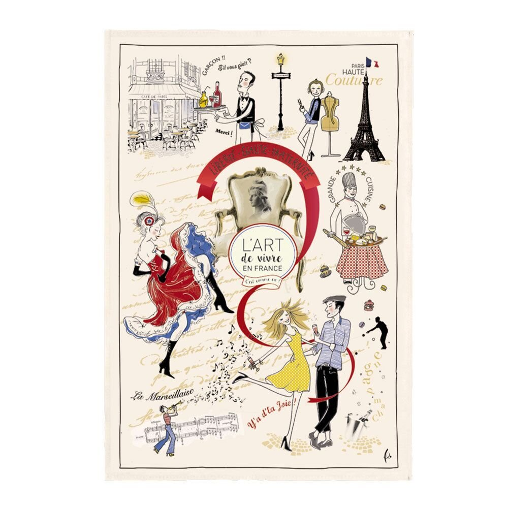 Torchons & Bouchons French Art of Living tea towel