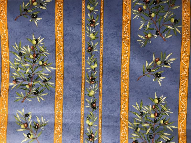 Acrylic coated Blue Olive fabric #312