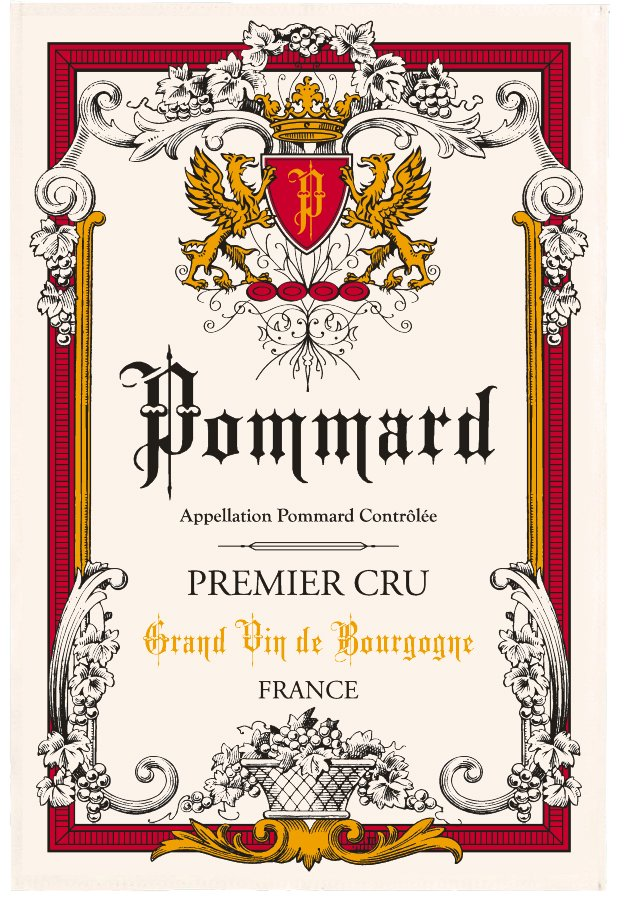 Torchons & Bouchons Pommard Burgundy Wine tea towel