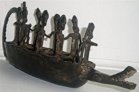 Mali Dogon Ancestor Bronze Boat