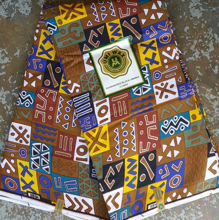 Geometric African fabric #432