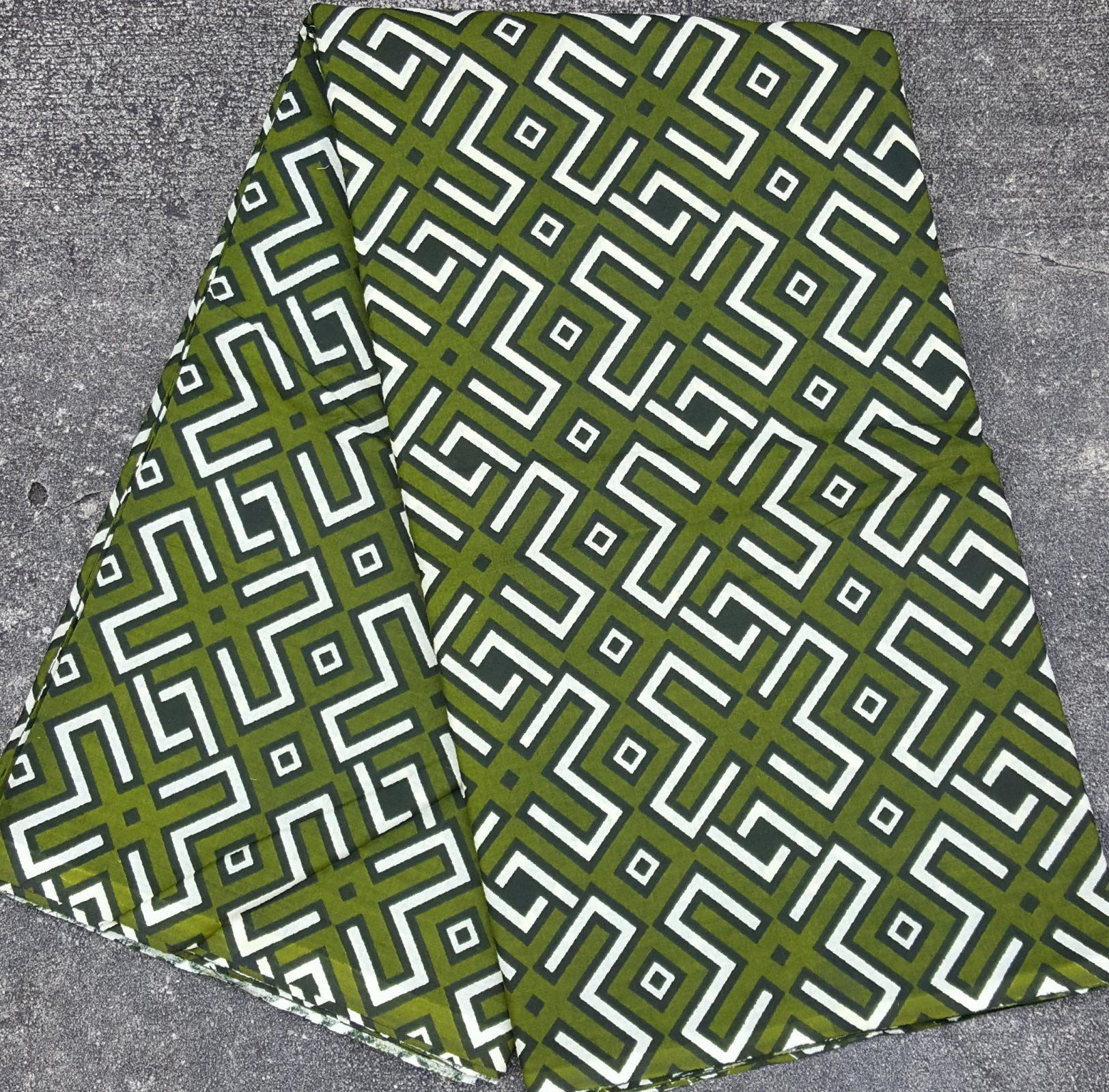 African Green Mudcloth Pring Fabric #473