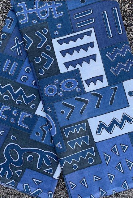 Soft Blue African Print Fabric #481