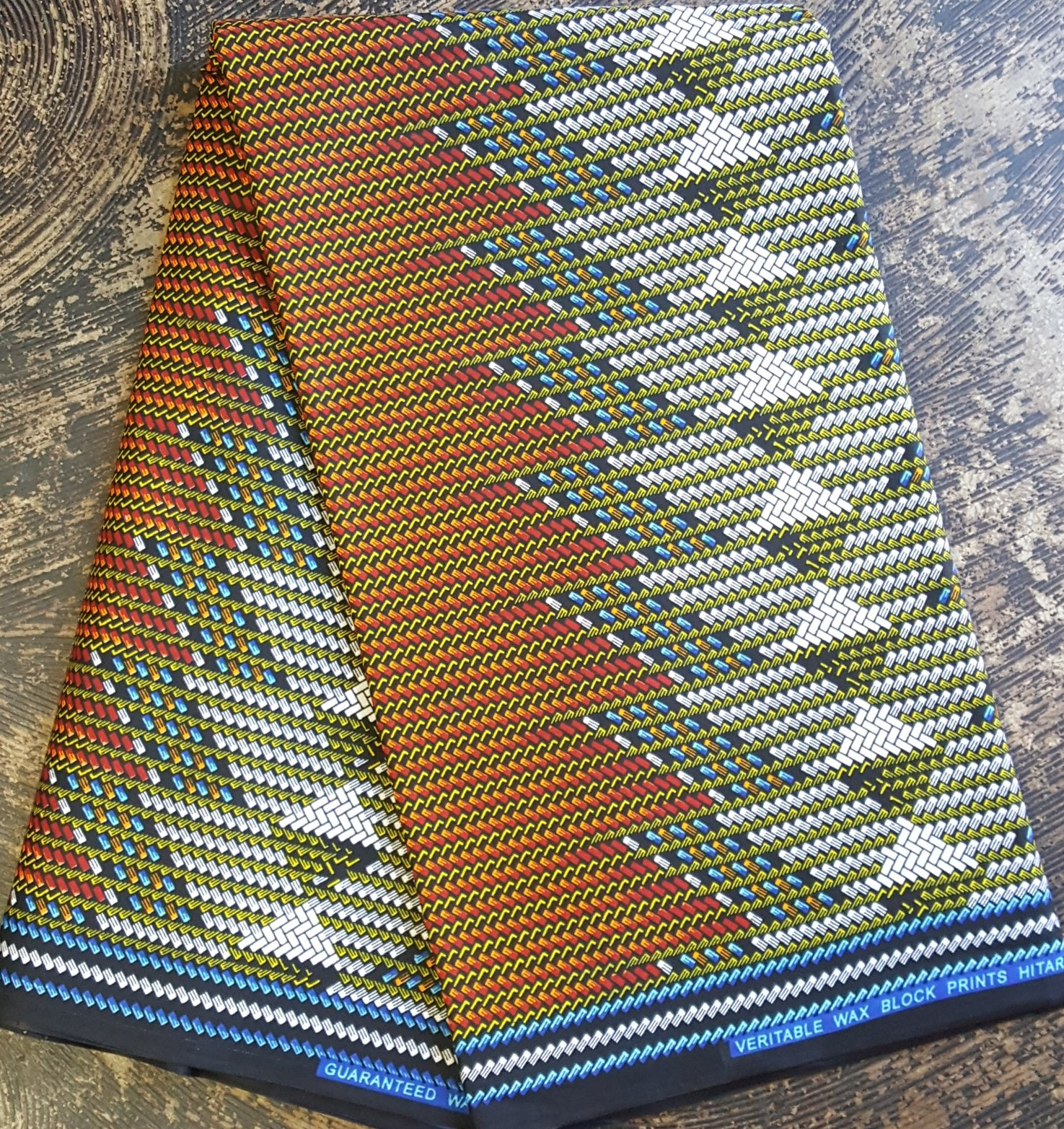 African Geometric print cotton fabric sold by the yard #496