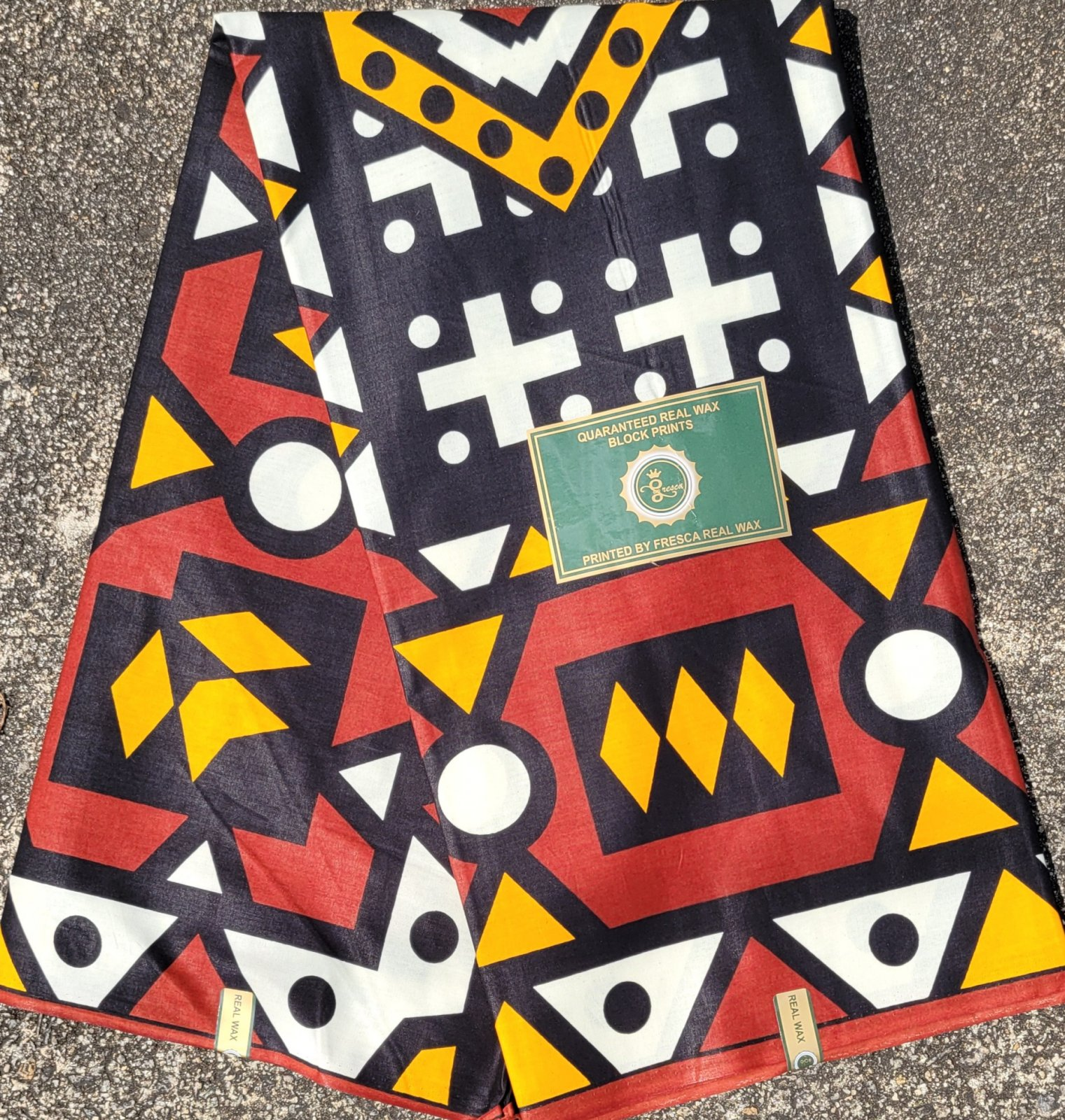 Brown and Black Geometric Print Fabric #518