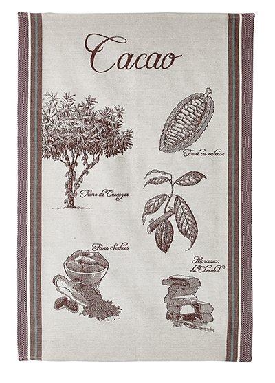 Cacao Flower tea towel