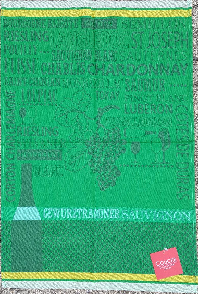 Coucke Green Chardonnay tea towel