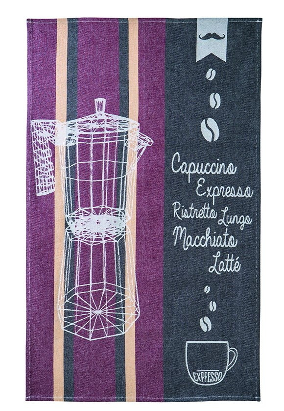 Coucke Espresso tea towel #1