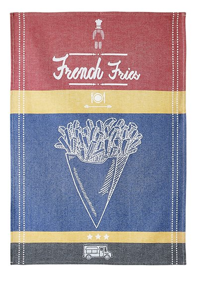 Coucke French Fries tea towel