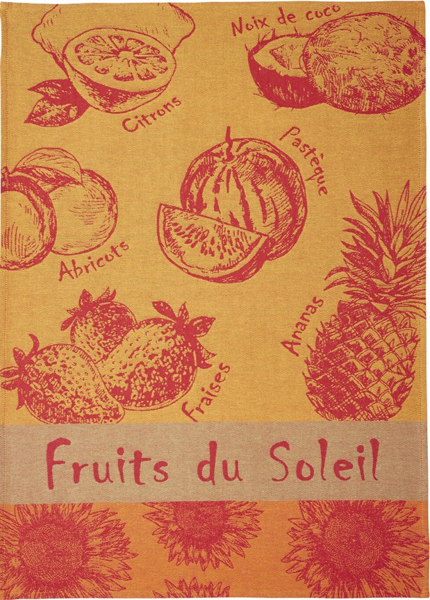 Coucke Summer Fruits tea towel