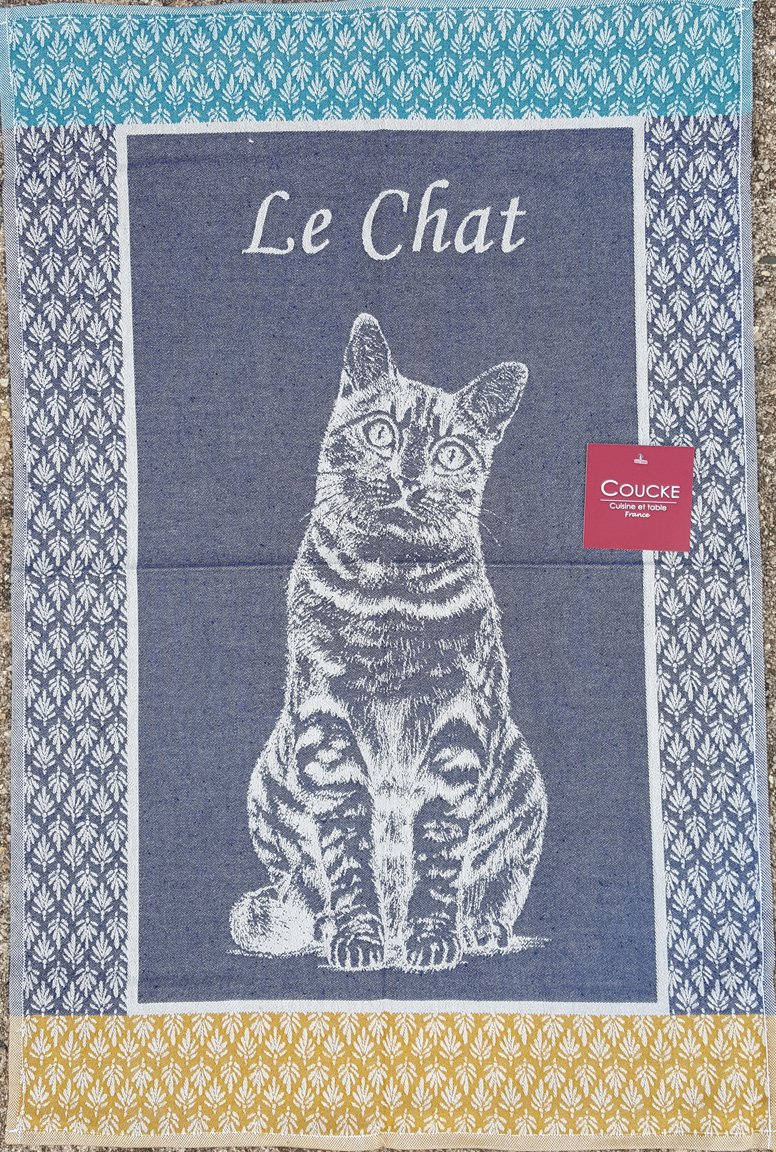 Coucke Cat tea towel