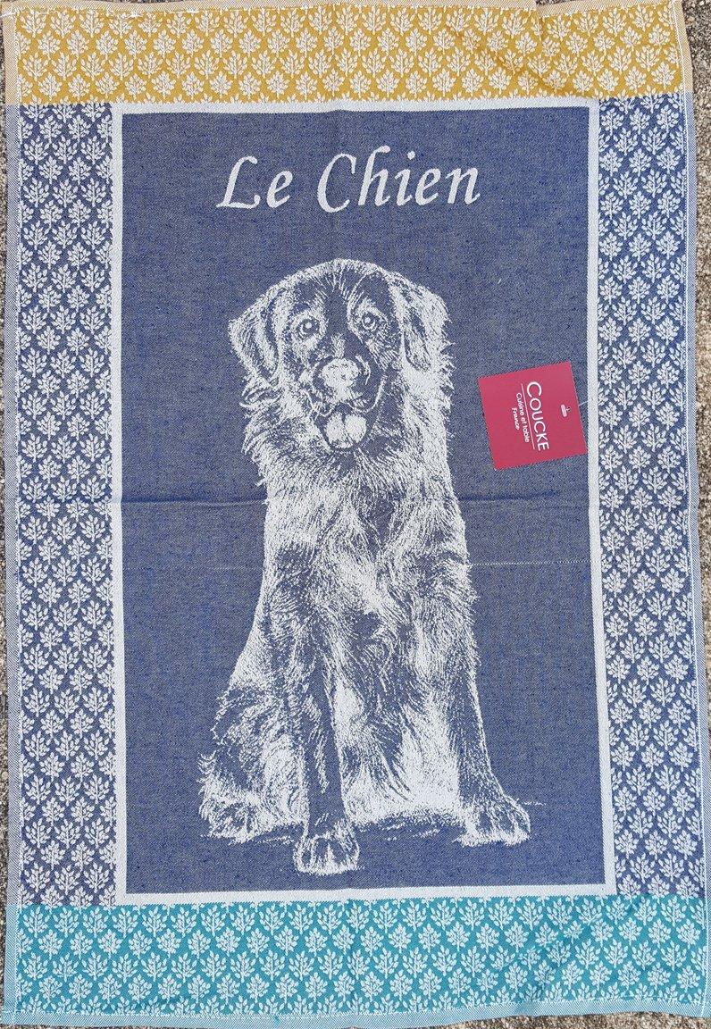 Coucke Dog tea towel