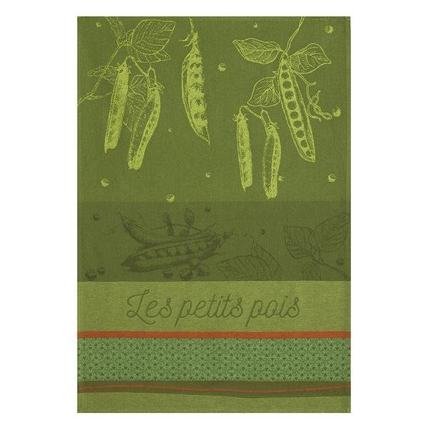 Coucke Green Peas tea towel