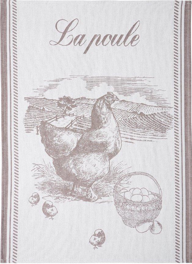 Coucke French hen tea towel