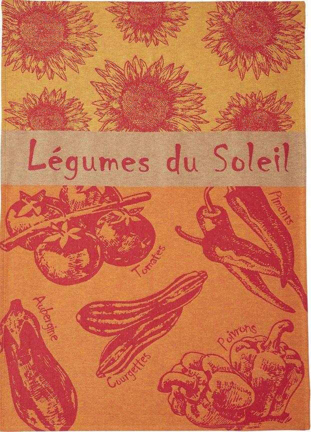 Coucke Summer Vegetables tea towel