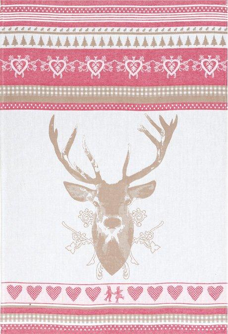 Coucke winter chalet PJ tea towel