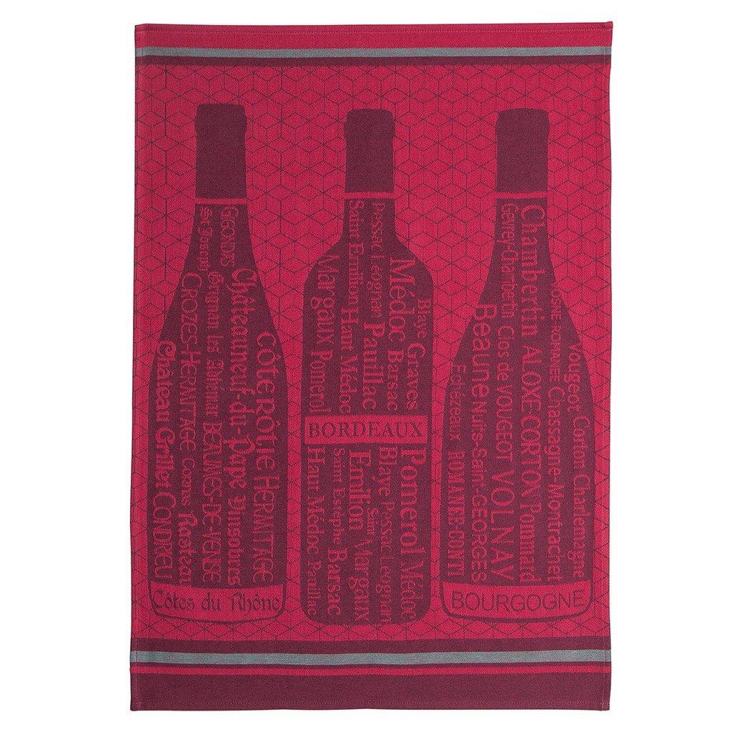 Coucke Wine Bottles tea towel