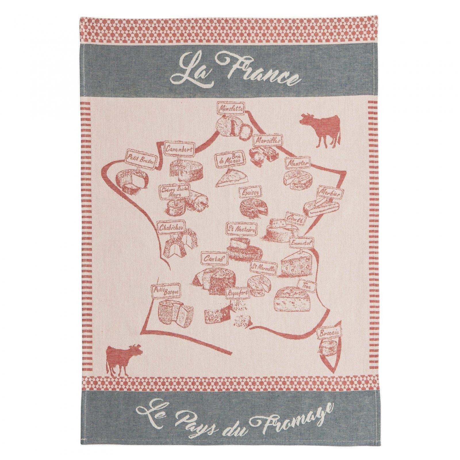 Coucke Carte Fromagere tea towel