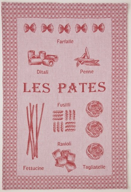 Coucke Pasta tea towel