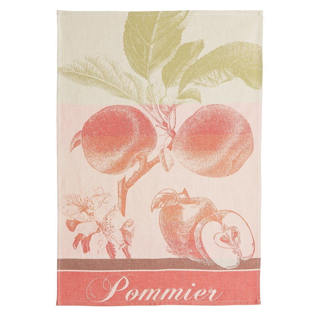 Coucke Pommier Rouge tea towel